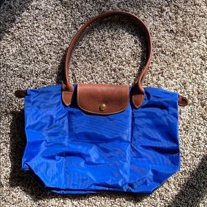 Small Blue Used Authentic Longchamp Le Pliage